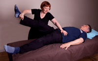 Sally Tyler showing therapeutic balance at the Natural Health Consultancy